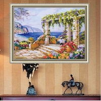 Free shipping Ribbon embroidery diy kit color paintings almonds living room 3D printing Cross stitch Meet the dark