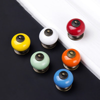 Ceramic Cupboard Furniture Handles Pull Drawer Knob for home decor Candy Colors Cute Kid's Bedroom Cabinet Handles Knob 10PCS