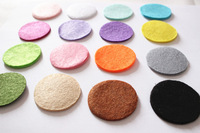 DIY 2.5CM Round Felt fabric pads accessory patches circle felt pads, fabric flower accessories 1000PCS 17COLORS U PICK