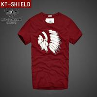 New 2014 Summer New Men's Fashion Brand Design T-shirt Casual T Shirt Tops Tees Short-sleeved 100% Quality Cotton Tshirt KT02