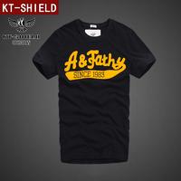 Hot New 2014 Men's T Shirts 100% Cotton Spring Summer T-shirts Male Short Sleeve Brand Design Man Top Tshirts Quality Tee KT01