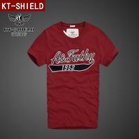 New 2014 Summer Men Fashion T-shirt Hip Hop Cotton Men T Shirt Tops Brand Celebrity Embroidery Clothing tshirt S-XXL KT01