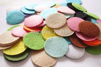 DIY 4CM Round Felt fabric pads accessory patches circle felt pads, fabric flower accessories 1000PCS  MIX COLORS