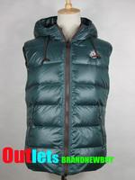 Free Shipping Mens Goose Down Vest MC Brand New Fashion Winter Warm