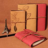 2014 new Retro diary book notebook Creative Korean stationery custom loose-leaf notebook  Tree leaf