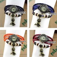 Womens Antique Owl Bracelet Wrap Wrist Watch Quartz Movement Watches More Color Choice