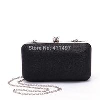 Very Nice Small Black Shining Minaudiere Phone Evening Clutch purse (LCHEB156)