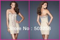 BCD50 Sweetheart Beaded Crystal Chiffon Cocktail Dress 2014 Cheap Short New Fashion Dress