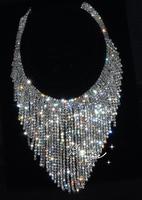 Free shipping  1 piece Bridal Sew On Dress Crystal clear rhinestone  Applique  Wedding Supply Trimming