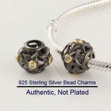 Hot Wholesale 2014 New Authentic 100% 925 Sterling Silver Zircon Beads Charm Women Jewelry DIY Fits Pandora Bracelet & Necklace