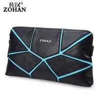 Man bag genuine leather clutch large capacity male day clutch bag sheepskin bag casual business bag
