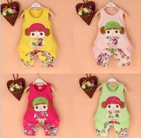 Free shipping 2014 new Baby Children clothing set, t-shirts girls boys t shirt+pants undershirt Shorts,kids pajama set