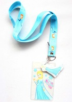 Free shipping 10pcs Cartoon Frozen Blue Lanyard/Work cards/ key chains /Neck Strap Lanyard wholesale
