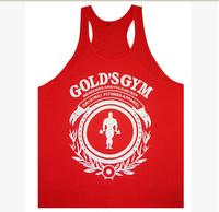 New Fashion Men's GYM Cotton Vest Power Brand Golds Gym Tank top T Shirt Plus Size Bodybuilding Sports Clothing High Quality