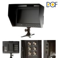"F&V DOF F1 7"" HDMI LCD On Camera Monitor with Sun Shade for Canon Nikon Sony Panasonic BMCC BMPCC DSLR Cameras"