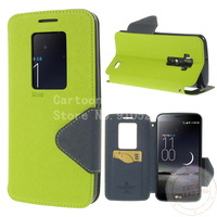 Free shipping+ for LG G Flex D950 D959 ,Roar Korea Diary Leather Case for LG G Flex D950 D959 w/ Hollowed Window