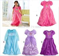 Free shipping 2014 cute cartoon frozen elsa dress baby girl Princess dress 4designs 6pcs/lot