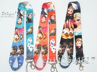 DHL Free Shipping FROZEN  Key  Lanyard ID Badge Holders for party/school Mix Color