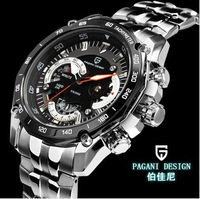 2014 new arrive Pagani Design Luxury Mens Stainless Steel Wrist Watch Fashion Clock Dive Waterproof (CX-0001)