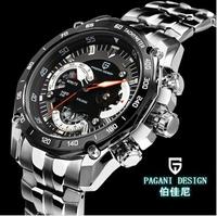 2014 new arrive Pagani Design Luxury Mens Stainless Steel Wrist Watch Fashion Clock Dive Waterproof (CX-0001)
