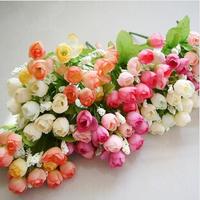 10pcs/lot 15 Flowers head Simulation flower Silk Head Artificial Flowers Wedding party Flower Home Decor FH003