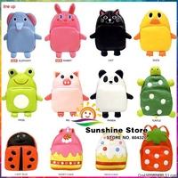 Sunshine store #8z025 5pcs/lot (13 style)  cartoon animals zoo children backpack baby kindergarten school for little baby