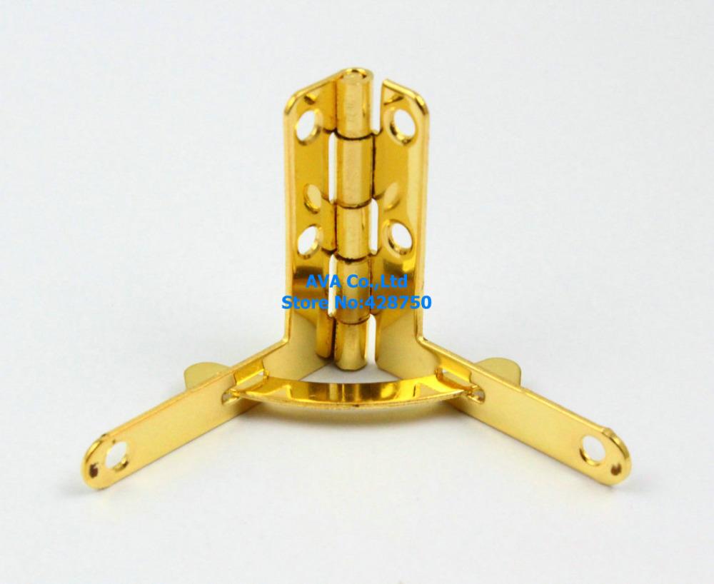 40 Gold Jewelry Box Hinge Small Hinge 33x30mm with Screws(China (Mainland))
