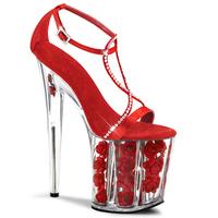 Sweet 2014 women's shoes 20cm ultra high heels sandals rose wedding shoes