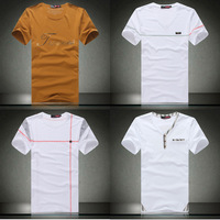 Free shipping 2014 brand new summer men's fashion cotton short-sleeve T-shirt o-neck men's t shirt mens tops $ tees 3 Colors