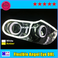 DHL freeshipping 10Pcs/Lot Flexible Daytime Running Light  Angel Eye DRL  LED  strip light bar panel lamp auto headlight
