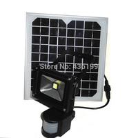 10W solar panel LED Flood Security Garden Light with PIR Motion Sensor 60 LEDs outdoor solar lamps garden decoration wholesale