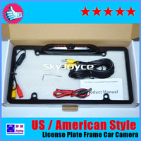 Freeshipping to most!Waterproof American/US style car License plate frame car camera Back up Camera car rear view camera