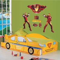 5 Set/lot Popular American Style Iron Man Wall Sticker Movie Star Home Decor Wallpaper Boy's Favorite Portrait