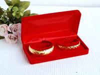 """luxury velvet double bacelets couple bangle box/case jewelry box 175*90*50mm/6.9""""*3.5""""*2"""" packing box wedding gift box free EMS"""