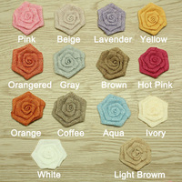 "DHL free shipping 3"" Burlap rose flower ,linen flower 60 pcs(12colors for selection)"