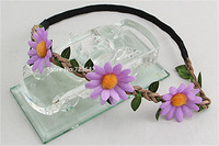 2014 New Bohemia Braided Sunflower Headband Hair Bands Strap Flower Hair Wreath Beach Women/Girls Hair Accessories Free Shipping