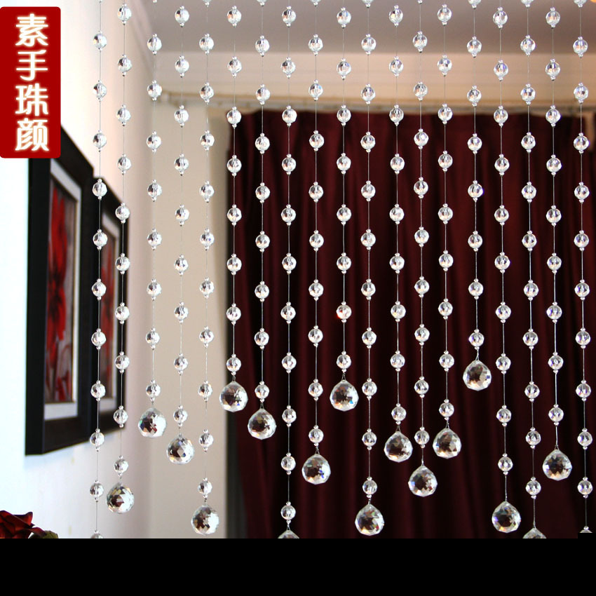 The new 2015 crystal 32 section of crystal bead curtain, porch free shipping.(China (Mainland))