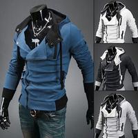высокое качество бренда мужчин плюс размер Толстовки Толстовки assassins creed осень зима тепло одежда Спортивные костюмы moleton