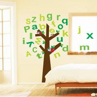 1 Set DIY Wall Sticker Tree Alphabet Apple Mural Home Decor For Kid Space Study Room Kindergarten