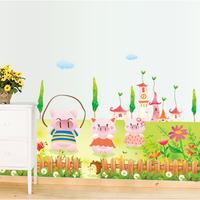 1 Set Great Lovely Pig's Spring Cartoon Sticker & Children Paradise Removable Home Decor Kindergarten Mural Wall