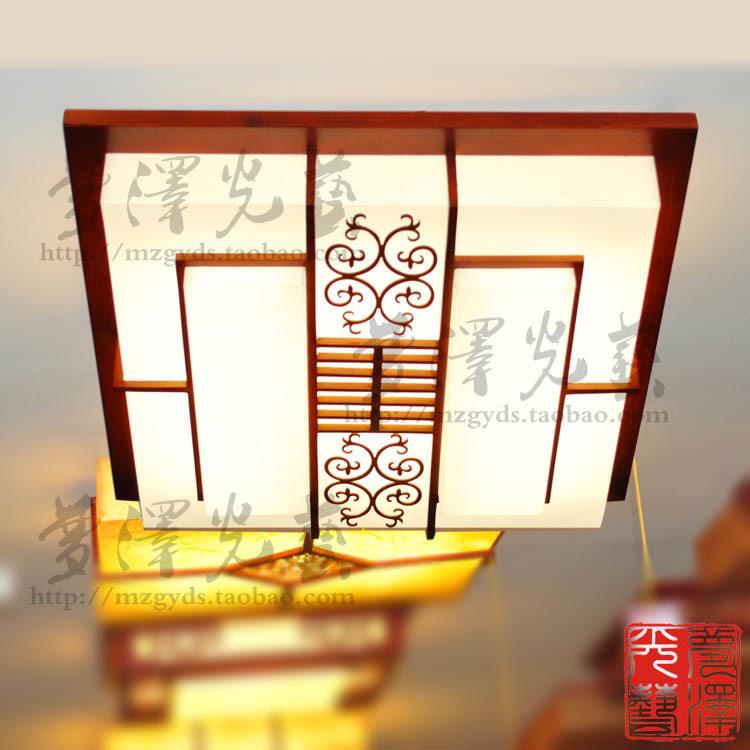 Chinese sheepskin lamp lights minimalist classic wood ceiling / living room lamp bedroom lamp / restaurant lamp lighting(China (Mainland))