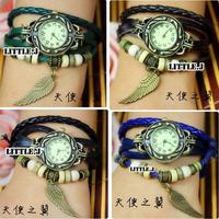 Womens Angel Wing Bracelet Wrap Wrist Watch Quartz Movement Watches More Color Choice