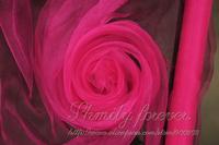 Free Shipping! Popular Fuchsia Color 70Cm width Wedding Organza Fabric party Event Venue Decoration