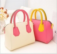 2014 New Korean Hot Autumn candy hit color fashion handbag Messenger bag female bag pu smiley personality,free shipping !