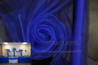 Free Shipping! Classic Royal Blue 70cmX26M Organza Sheer Fabric For Wedding Aisle Church Decorations