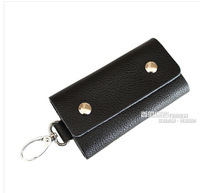 Male multifunctional key wallet card holder women's genuine leather key cases,free shipping