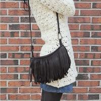 Summer 2014 fashion tassel bag women Messenger bag big buckle fringed shoulder bag diagonal packet handbags wholesale