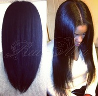 100% unprocessed yaki straight human hair wigs glueless front lace wigs&silk top lace front wig with baby hair for black women