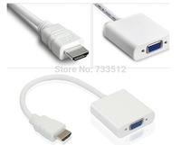 HDMI to VGA SVGA RGB HDTV Video Adapter Cable Converter Laptop PC PS3 XBOX WHITE