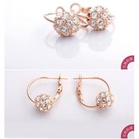 2014 fashion jewelry cherry blossom rain crystal earrings with cherry ball ball - cherry blossoms grass